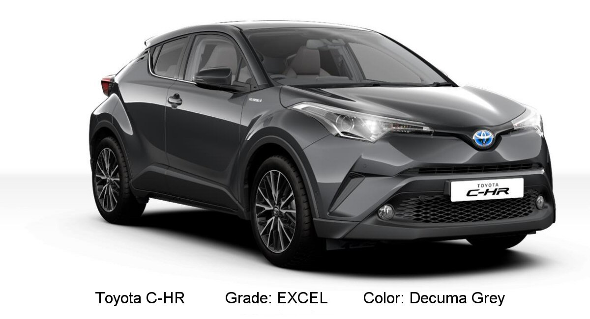 Fx Car Price >> Toyota C-HR available colors - Tax Free Car Hub Seychelles