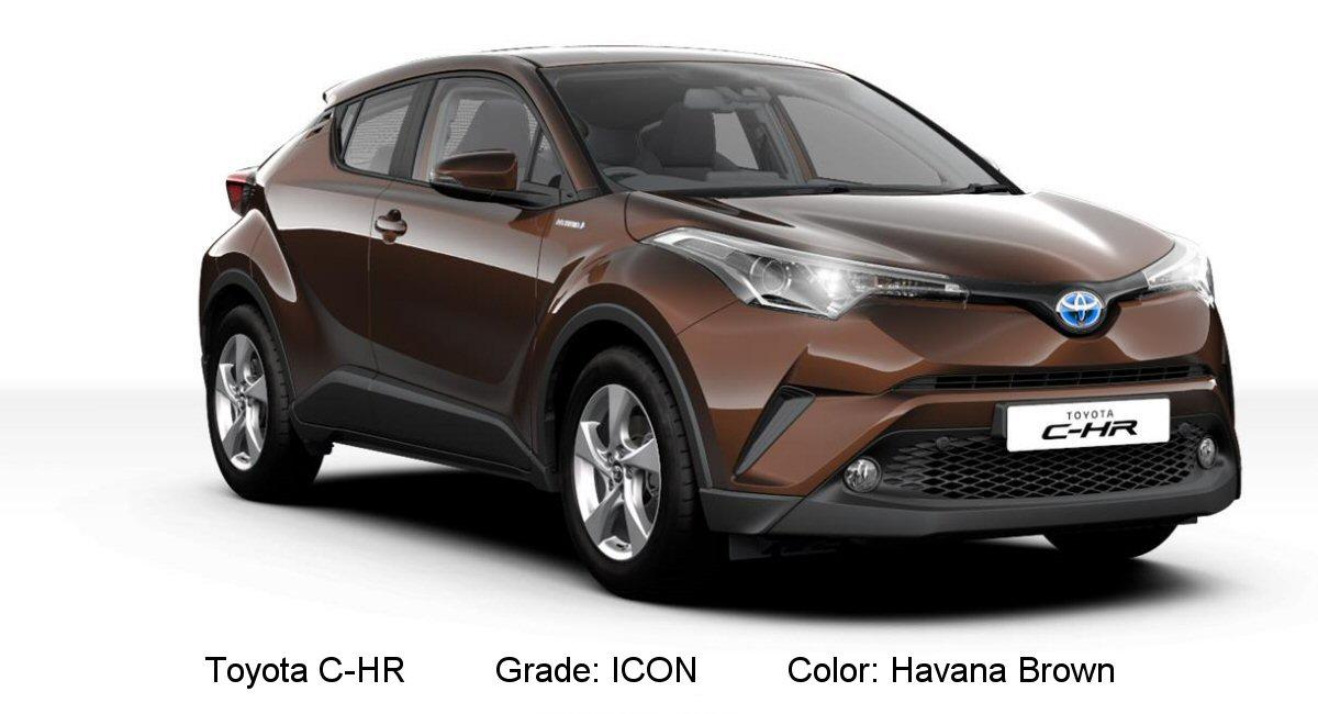 toyota c hr available colors tax free car hub seychelles. Black Bedroom Furniture Sets. Home Design Ideas